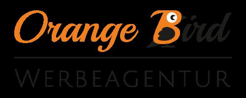 Orange Bird logo with statement